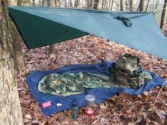 USGI Gortex bivy and Golite poncho setup as a fast 3 season shelter.