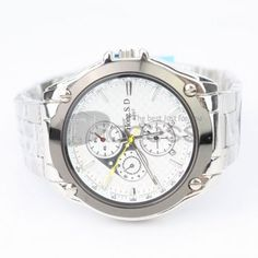 Small personalized white dial watch