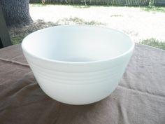 White Milk Glass Pyrex Hamilton Beach Mixing Bowl