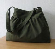 SALEDark Olive Canvas Bag  Shoulder bag