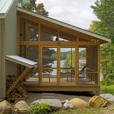 modern porch by Jean Terwilliger Architect