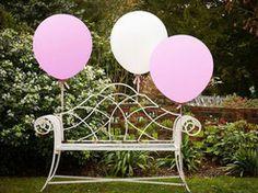 Riesen Ballons in pink und weiß