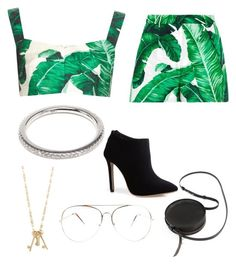 """Tropical"" by gretamaeve ❤ liked on Polyvore featuring Dolce&Gabbana, Tory Burch, Sara Barner and Rosa de la Cruz"
