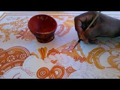 kerala mural painting for beginners Kerala Mural Painting, Tanjore Painting, Indian Art Paintings, Peacock Painting, Fabric Painting, Rajasthani Art, Art Basics, Concrete Crafts, Indian Folk Art