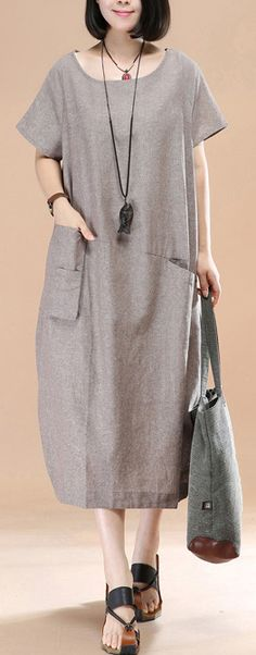 stylish khaki linen shift dress plussize traveling dress women asymmetric short sleeve cotton dressesMost of our dresses are made of cotton linen fabric, soft and breathy. loose dresses to make you comfortable all the time. Linen Dresses, Cotton Dresses, Casual Dresses, Summer Dresses, Shift Dresses, Bikini Sets, Fashion Pictures, Baby Boys, Stylish Outfits