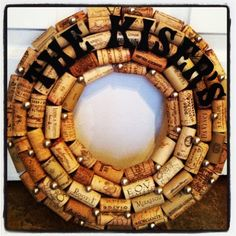 Personalized Name Cork Wreath