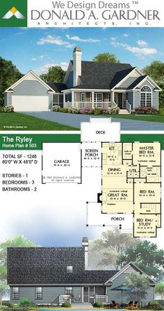 353 Best Small Home Plans images in 2020 | House plans ... Coleraine House Plan For Sq Ft on