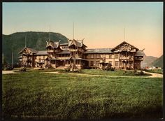 Hotel Dalen, Telemarken (ie, Telemark), Norway ~1890. Colorized photo / photochrom. Vintage reprint postcard, 8x10 and larger available. by vintagephotograph on Etsy https://www.etsy.com/listing/192488842/hotel-dalen-telemarken-ie-telemark