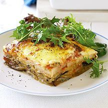 fr : Recette Weight Watchers - Moussaka Plus Ww Recipes, Low Calorie Recipes, Greek Recipes, Light Recipes, Veggie Recipes, Cooking Recipes, Weigth Watchers, Eggplant Moussaka, Greece Food