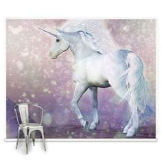 Abby said she would like a unicorn on her wall with kittens and rainbows