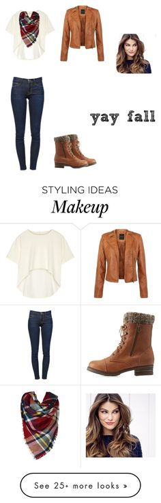"""""""fall again"""" by charlestonchew on Polyvore featuring Frame Denim, ULTA, Oak and Charlotte Russe"""