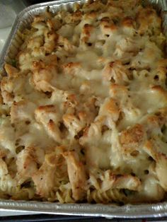 Christina's Guide to Feeding the Family: Chicken Alfredo Pasta Bake