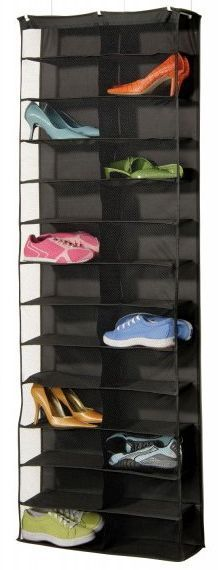 7 of the Best Organizers to Tame Your Out-of-Control Shoe Collection: Over the Door Shoe Rack with Shelves