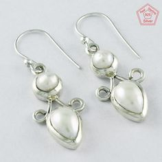 4.5 gm Silvex Images - 925 Sterling Silver Pearl Stone Elegant Earring 4006 #SilvexImagesIndiaPvtLtd #DropDangle