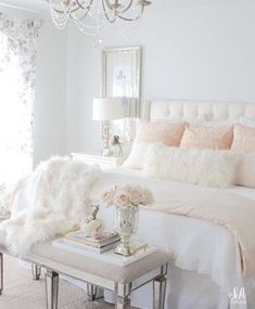 Master Bedroom Updates For Fall & Winter Master bedroom update for fall and winter with Pom Pom At Home, Pink Champagne Grace Duvet Cover Collection, faux fur throw and cozy romantic ambiance. - Master Bedroom Updates For Fall & Winter Feminine Bedroom, Trendy Bedroom, Modern Bedroom, Contemporary Bedroom, Bedroom Small, Bedroom Vintage, Bedroom Girls, Minimalist Bedroom, Bedroom 2018