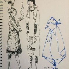 IGLOO HONG - A Moroccan roadtrip sketchbook page w/ Andrew Hem, David Choe, and Esao Andrews. Best of times.