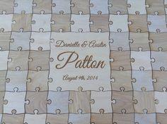 100-150 pcs. Custom Wedding Guest Book Puzzle -Guest Book Alternative - Mixed grain pieces