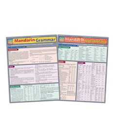 Another great find on #zulily! Mandarin Laminated Reference Sheet Set by BarCharts #zulilyfinds