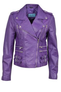 Shop Stylish Mystique New Ladies Purple Jacket Italian Real Lambskin Leather Biker Casual Style Design Free delivery and returns on eligible orders. Purple Leather Jacket, Purple Jacket, Colorful Leather Jacket, Crazy Outfits, Cute Outfits, Purple Motorcycle, Mode Rock, Purple Blazers, Estilo Rock