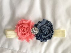 Country Coral Headband by daisydesigned on Etsy