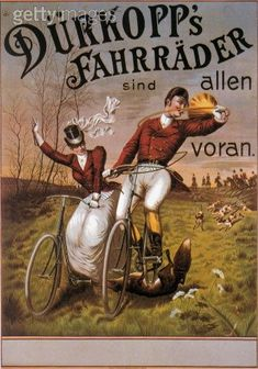 Dürkopp Bicycles Successfully Fox Hunting (They also made motorcycles- which vaguely makes sense)