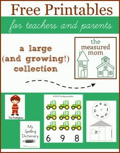 Free Printables -- tons to choose from for literacy and math
