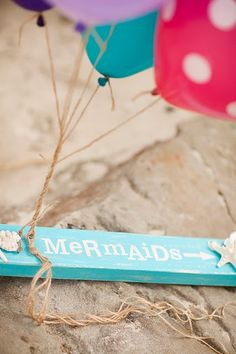 Mermaid party sign