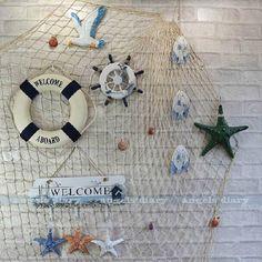 Lifebuoy Life Ring Preserver Nautical Ship Boat Marine Theme Home Decor Rooms Home Decor, Home Wall Decor, Beach House Decor, Seashell Crafts, Beach Crafts, Wind Chimes Online, Fish Net Decor, Deco Marine, Nautical Home