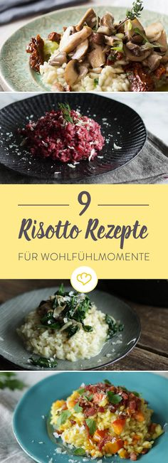 9 simple risotto recipes for an extra portion of cosiness - Wonderfully creamy and wonderfully aromatic, refined with spicy parmesan. In summer or winter, with - Milanesa, Lacto Vegetarian Diet, Vegetarian Recipes, Healthy Recipes, Rice Recipes For Dinner, Baby Food Recipes, Risotto Simple, Best Risotto, Food Staples