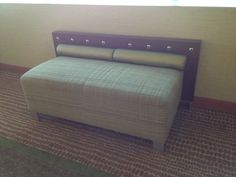 Benches that look like beds, Hilton Altamonte Springs