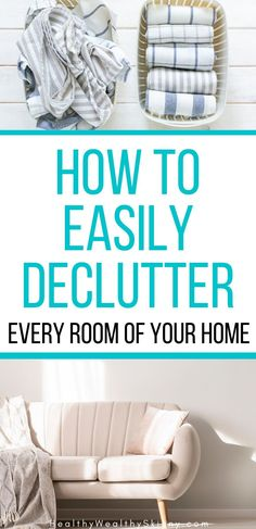Decluttering ideas that even a hoarder can follow with ease. How to declutter every room of your home. 10 easy steps that will help you get rid of clutter without anxiety or stress. Decluttering Ideas, Organizing Tips, Getting Rid Of Clutter, Declutter Your Life, Life Organization, Anxiety, Stress, Easy, Room