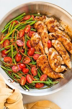 Balsamic Chicken with Asparagus and Tomatoes – Low Carb Recipe