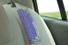 craft lessons: crochet seat belt cozy and free pattern - crafts ideas - crafts for kids