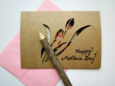 DIY Mother's Day Cut Out Card. Great idea to make cards for other occasions too.