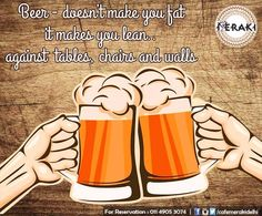We have a lot many reasons to drink Beer! Let's get healthy together, join us for drinks tonight. #beer #drinkup For reservation call on 011-49053074