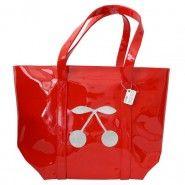 Anne-Charlotte Goutal Cabas School cerises rouge et argent en vente sur http://www.matemonsac.com