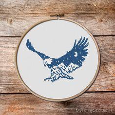 Eagle Cross Stitch patternBald Eagle Cross by MyFunnyStitches1