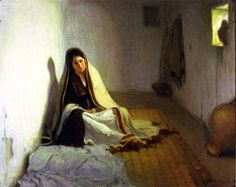 La Sainte Marie painting Henry Ossawa Tanner | Oil Painting Reproduction