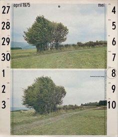 Kalenderdesign aus dem Jahre 1975