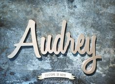 Wooden Cursive Name, Word or Phrase / unfinished script Letters / wall signs for sisters / kids room decor / nursery project