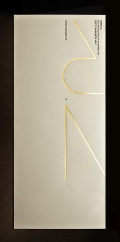 envelope / gold foil