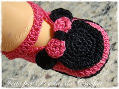 * Pérolas do Crochet: Sapatinho de croche Minnie                                                                                                                                                      Más