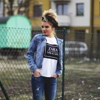 Bawełniana Koszulka ''Zara Wracam'' | 39,99zł