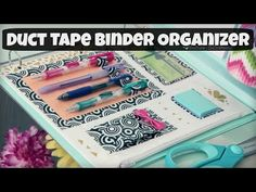 DIY Binder Organizer // Duct Tape Zipper Pouch & Pen Holder // Back-To-School - YouTube SoCraftastic