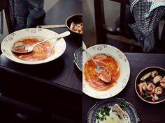 zupa krem pomidorowa, z pomidorów z puszki lub passaty