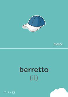 Berretto #CardFly #flience #clothes #italian #education #flashcard #language