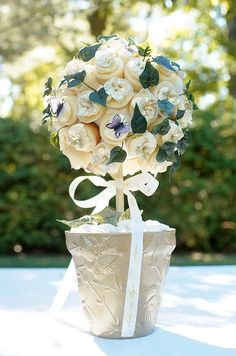 A wedding cupcake topiary from baker Sophie Bifield!