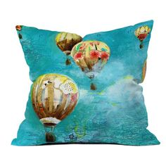 DENY Designs Land Of Lulu Herd Of Ballons 2 Outdoor Throw Pillow - 13665-OTHRP18
