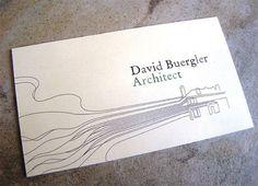 ¿Qué te parece la tarjeta de este arquitecto?