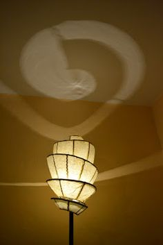 Twisted spiral lamp...ambiental light...shadow play...(;